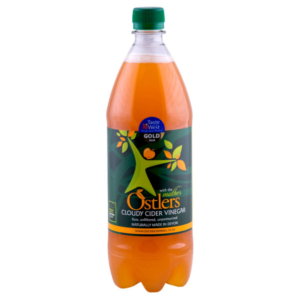 Ostlers Award Winning Organic Apple Cider Vinegar ACV with Mother Cloudy 1L