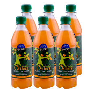 Ostlers Award Winning Organic Apple Cider Vinegar ACV with Mother Cloudy 6x1L