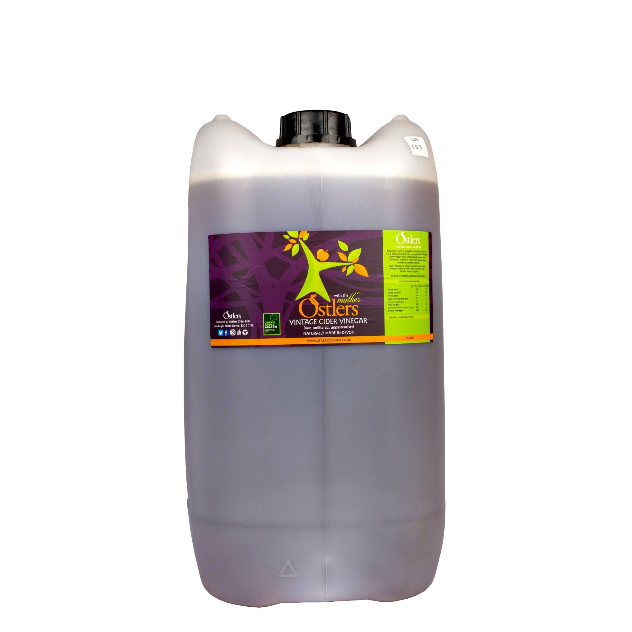 Ostlers Award Winning Organic Apple Cider Vinegar ACV Vintage 25L