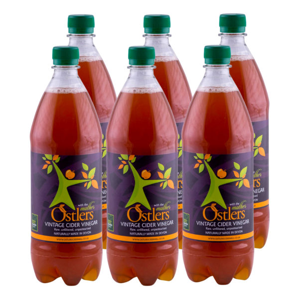 Ostlers Award Winning Organic Apple Cider Vinegar ACV with Mother Vintage 6x1L