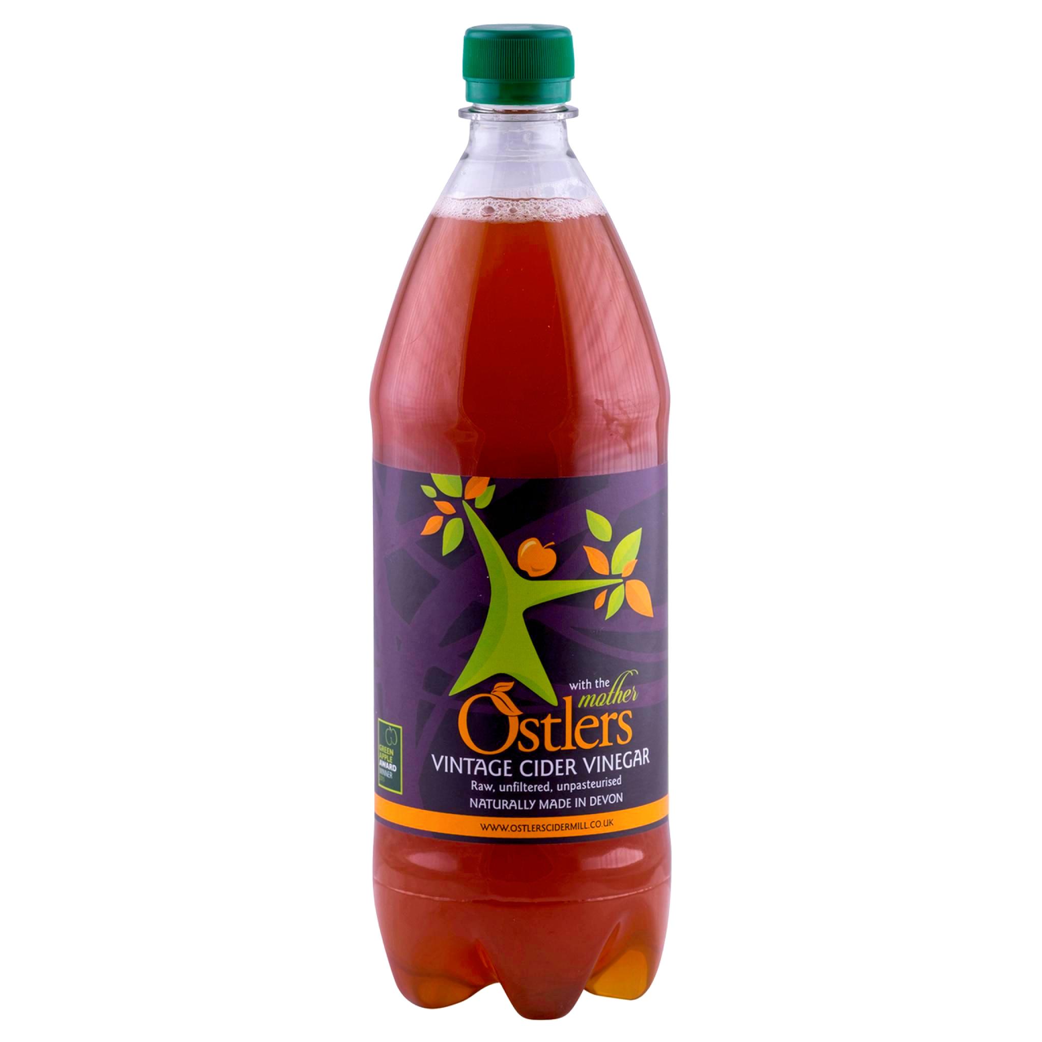 Ostlers Award Winning Organic Apple Cider Vinegar ACV with Mother Vintage 1L
