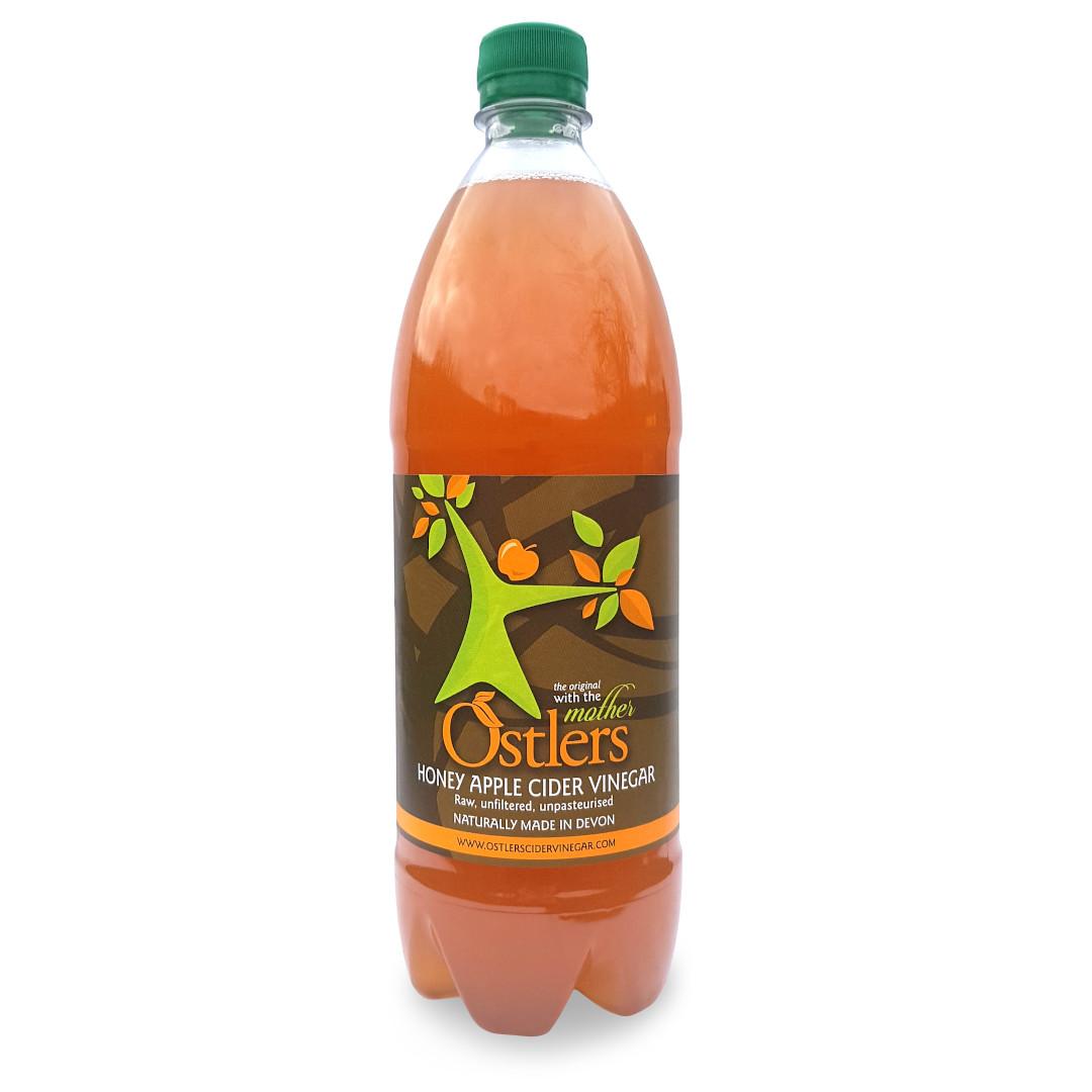 Ostlers Award Winning Organic Apple Cider Vinegar ACV Honey 1L